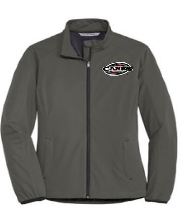 Women's Active Soft Shell Jacket - Black or Gray (Embroidered Logo)