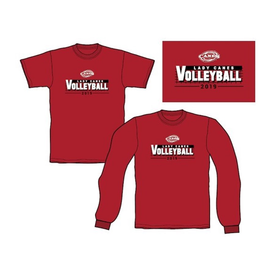 Long-Sleeved 2019 Volleyball T-Shirt